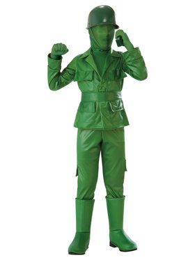 Green Army Boy Costume for Children