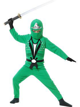 Ninja Avengers Series Green Boys Costume
