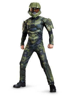 Halo Master Chief Classic Boys Muscle Costume