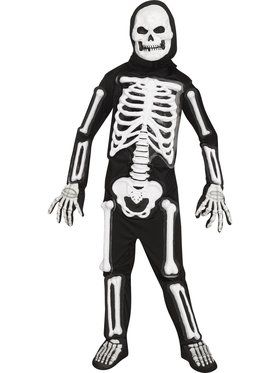 Boys Light Up LED Skele-bones Costume