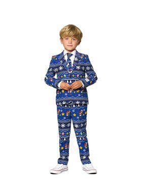 Opposuits Boys Merry Mario Christmas Suit