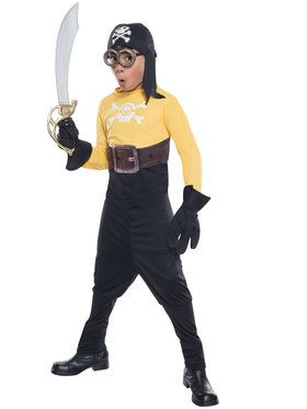 Boys Minion Pirate Costume