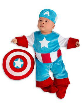Boys Newborn Marvel - Captain America Child Costume