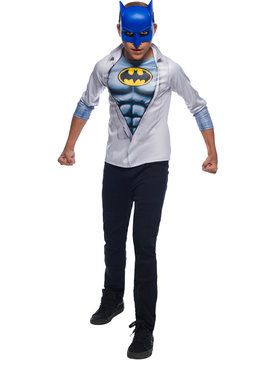 Photo Real Boy's Batman Costume Top