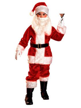Boys Plush Santa Suit