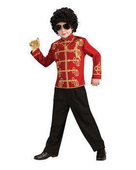 Boys Red Michael Jackson Military Jacket