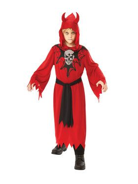 Boys Skeleton Robe Costume