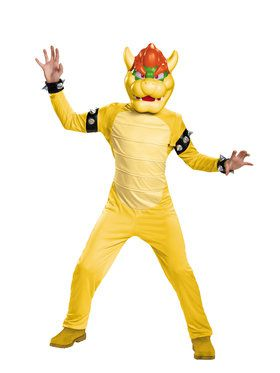 Boys Deluxe Bowser Super Mario Brothers Costume