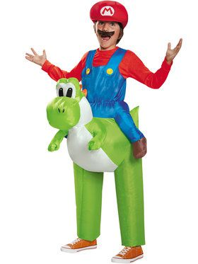 Super Mario Bros: Ride a Yoshi Inflatable Child Costume