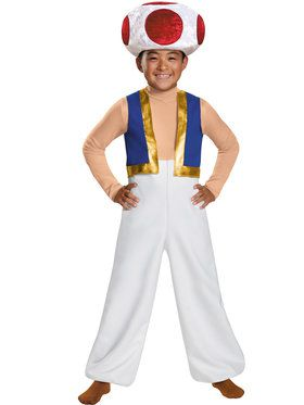 Boys Deluxe Toad Super Mario Brothers Costume