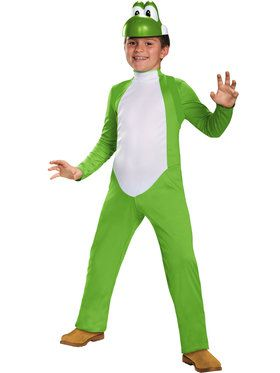 Boys Deluxe Yoshi Super Mario Brothers Costume
