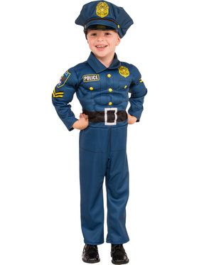 Boys Top Cop Costume
