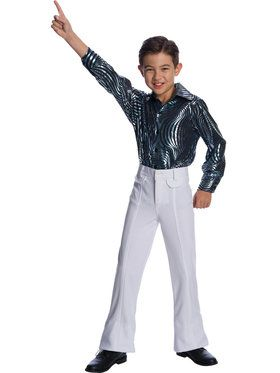 Boys White Disco Pants