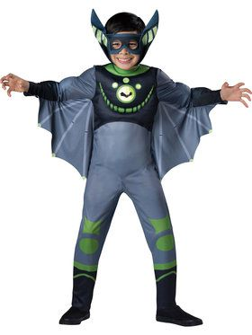 Boys Wild Kratts Green Bat Costume