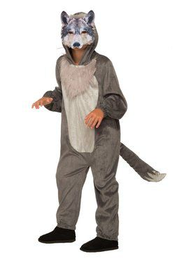 Wolf Jumpsuit With 2018 Halloween Masks Costume for Boys