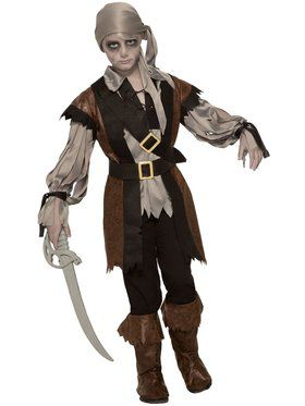 Ghost Pirate Kid's Costume