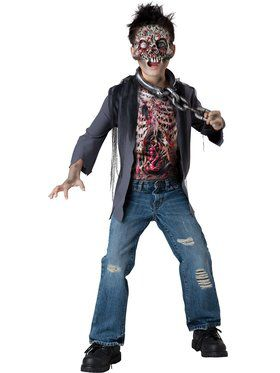 Horror Zombie Unchained Boys Costume