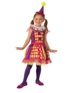 Bright Clown Child Costume