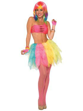 Multicolor Bright Tutu for Adults