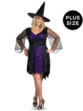 Plus Adult Brilliantly Bewitched Costume