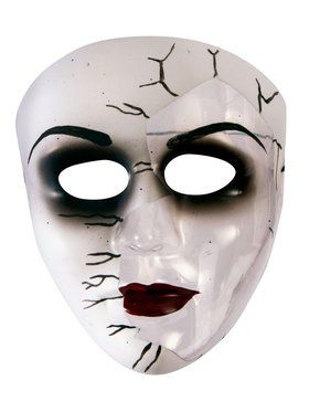 Broken Doll Face Transparent Mask