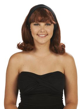 Brown 50's Flip Adult Wig