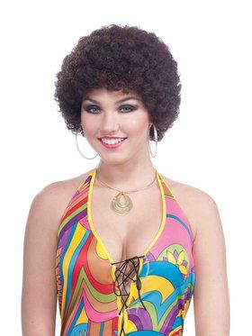 Brown Afro Wig for Adults