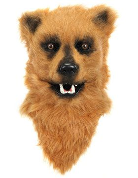 Brown Bear Mouth Mover Adult Mask One-Size