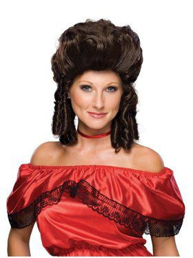 Brown Colonial Women's Wig