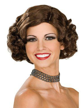 Brown Flapper Wig