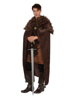 Brown King Cape Adult Costume