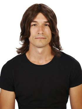 Brown Surfer Adult Wig