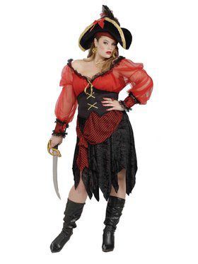 Buccaneer Beauty Adult Plus Costume