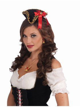 Buccaneer Beauty Mini Hat - Red Bow
