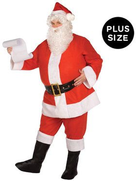 Budget Complete Santa Suit Adult Plus Costume