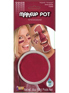 Burgundy Makeup Pot