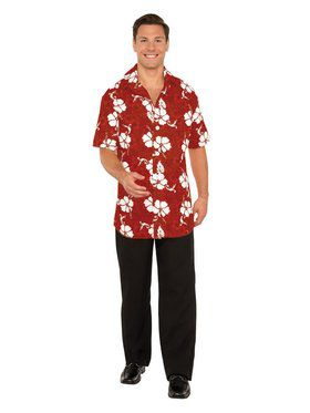 Button Front Hawaiian Shirt