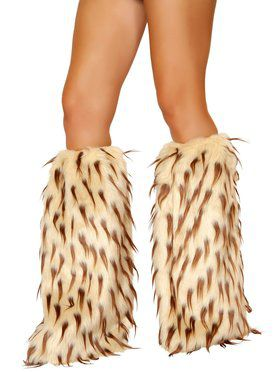 Camel And Brown Fur Leg Warmer
