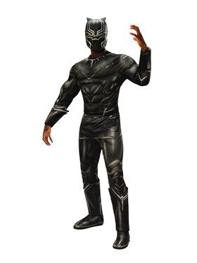 Deluxe Muscle Chest Adult Black Panther Costume