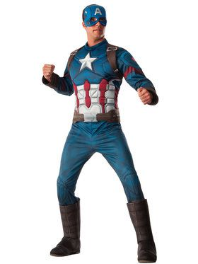 Captain America Civil War Deluxe Muscle  sc 1 st  BuyCostumes.com & All Menu0027s Costumes - Men Halloween Costumes | BuyCostumes.com