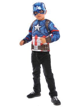 Captain America Deluxe Costume Top Set