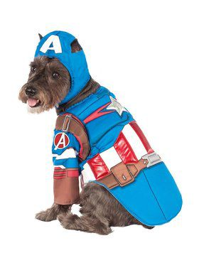 Avengers: Deluxe Captain America Pet Costume