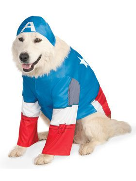 Captain America Pet Costume XX-Large