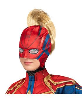 Captain Marvel Adult Headpiece with Mohawk