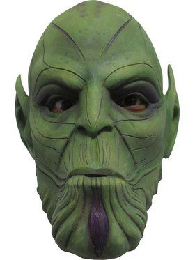 Captain Marvel Adult Nuro Skrulls Full Overhead Latex Mask