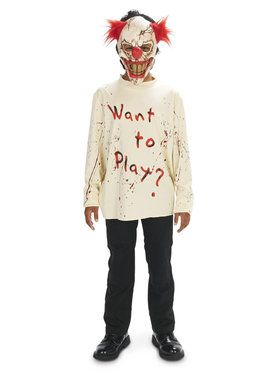 Carn-Evil Playful Clown Child Costume