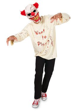 Carn-Evil Playful Clown Costume With 2018 Halloween Masks