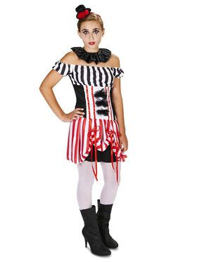 Carn-Evil Tween Vintage Striped Clown Dress