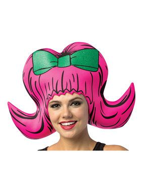 Cartoon Wig - Boufant Pink One- Size