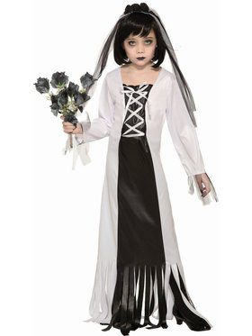 Cemetery Bride Child Costume